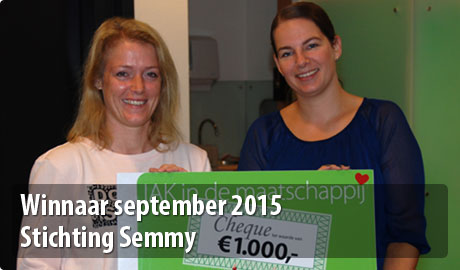 Winnaar september Stichting Semmy